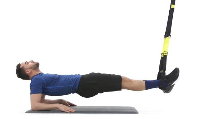Reverse plank con sobrepeso