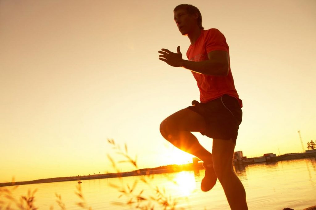 Calentando antes de correr