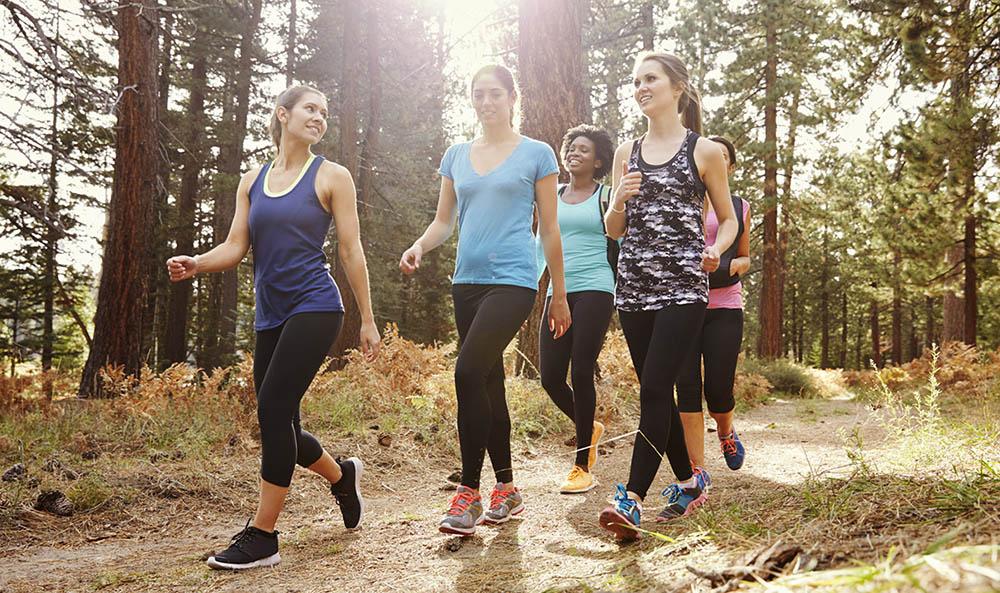Caminando con otros por el bosque