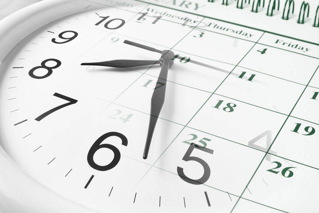 Organizar tiempo y calendario