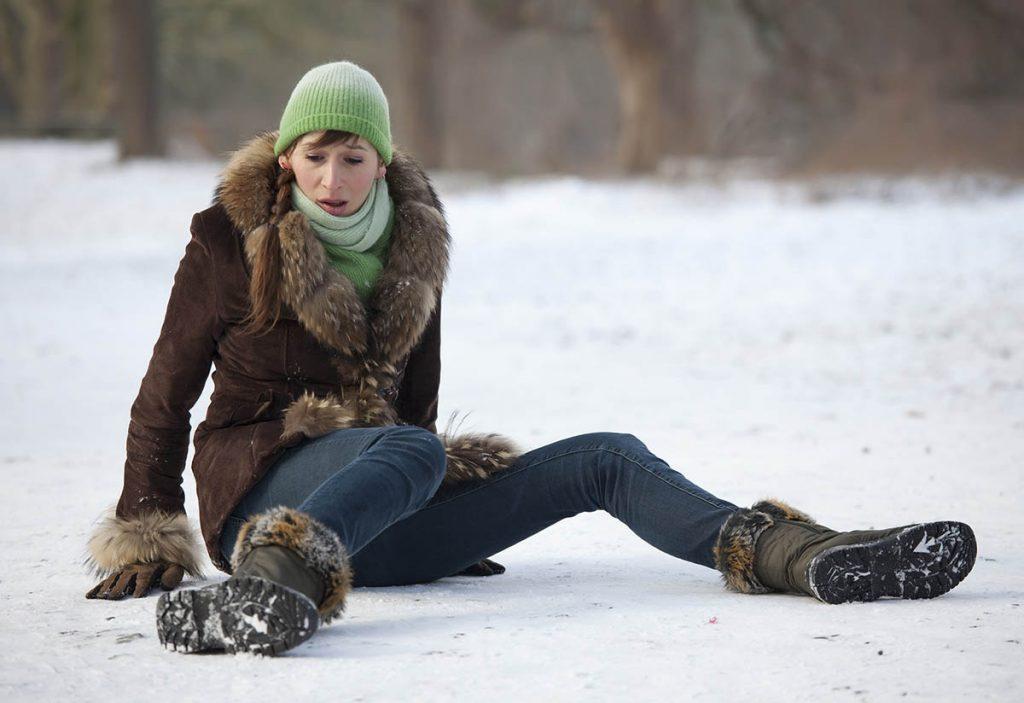 Caída en la nieve