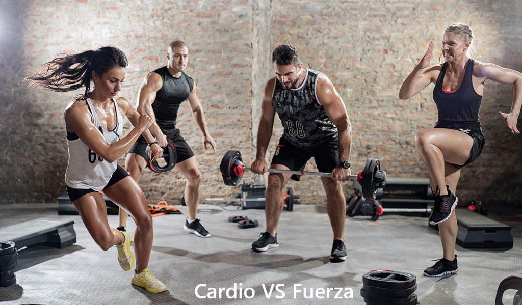 Cardio VS Fuerza ejercicios