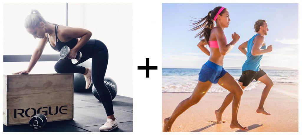 Combinación de ejercicio de cardio con ejercicio de fuerza