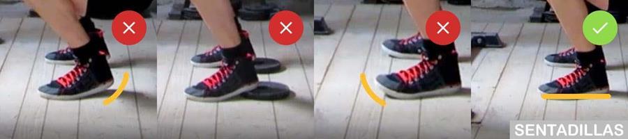 Postura correcta de los pies en sentadillas
