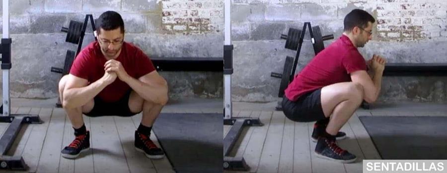 Estiramiento de cadera para sentadillas